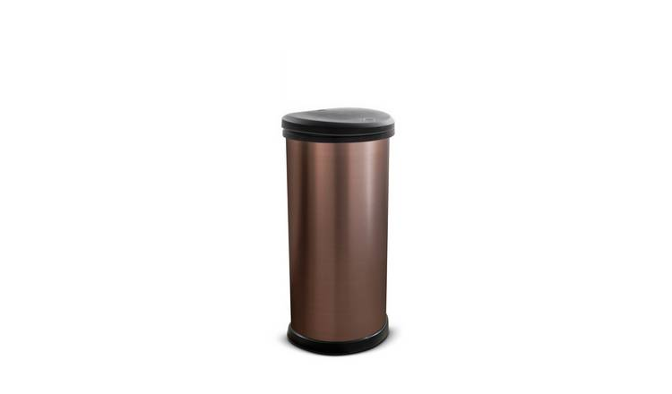 Curver 40 Litre Deco Touch Top Kitchen Bin - Rose Gold
