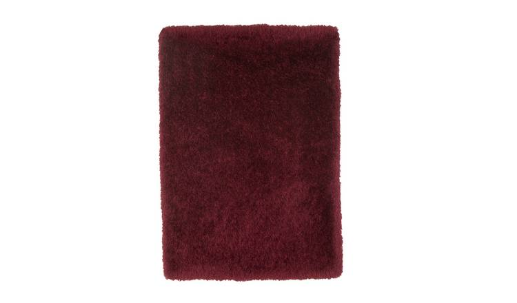 Argos Home Bliss Deep Pile Shaggy Rug - 110x170cm - Berry