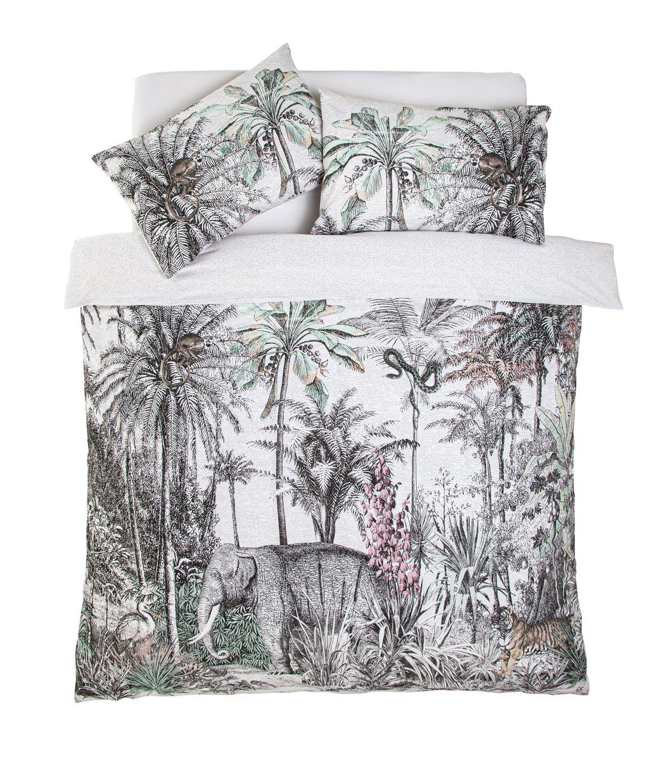 Argos Home Vintage Jungle Bedding Set - Double