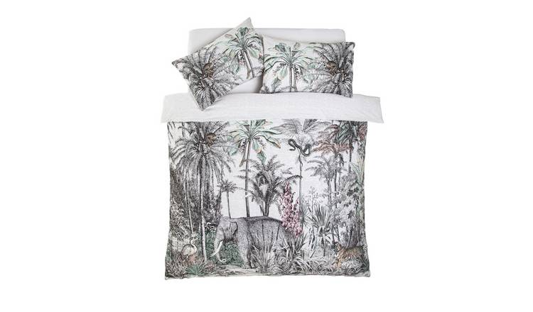 Argos Home Vintage Jungle Bedding Set - Double