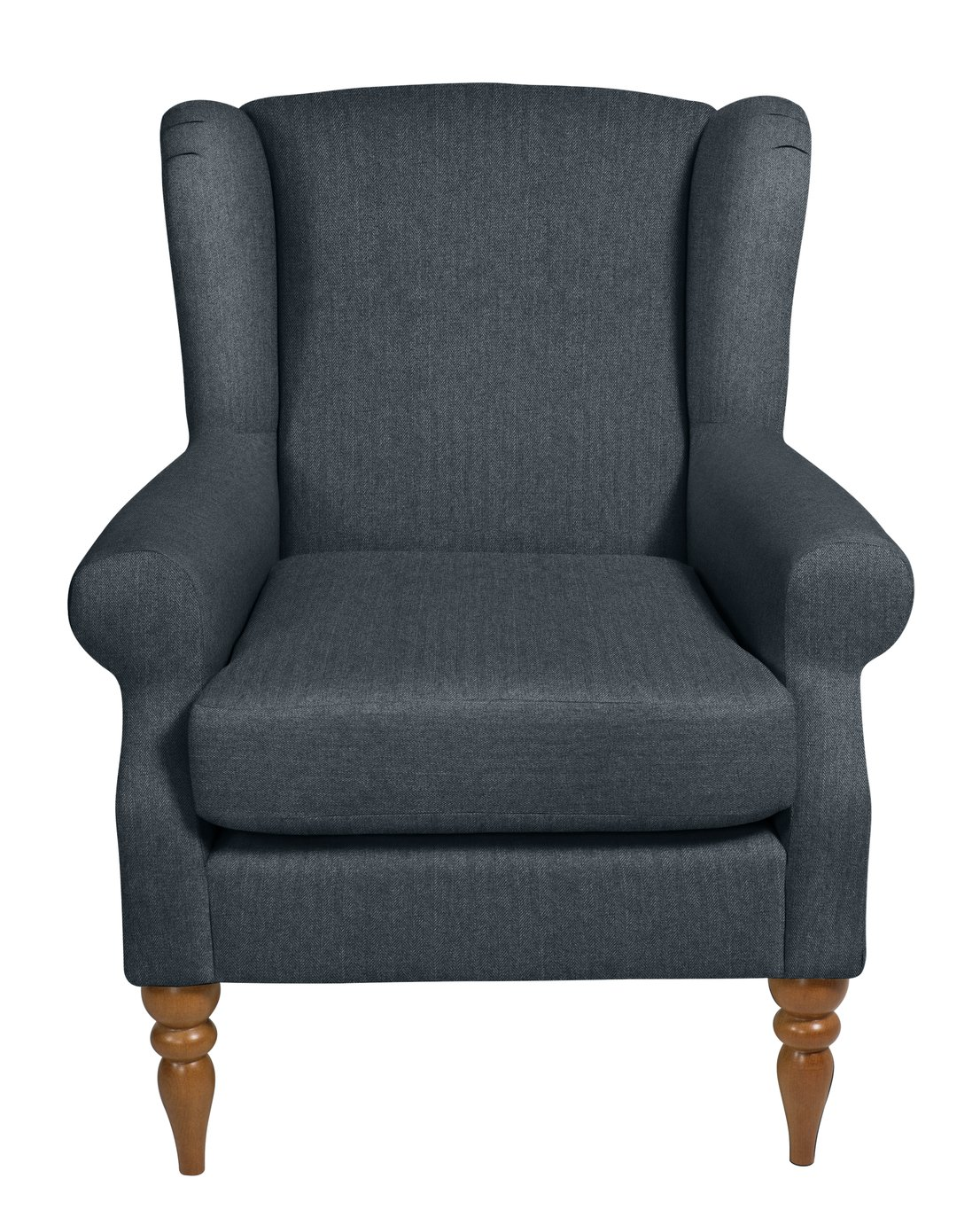 Argos Home Bude Fabric Wingback Chair - Blue