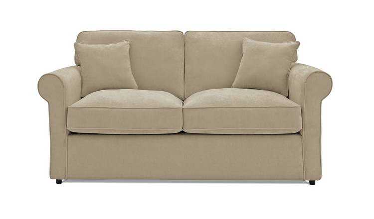 Argos Home William 2 Seater Fabric Sofa Bed - Natural