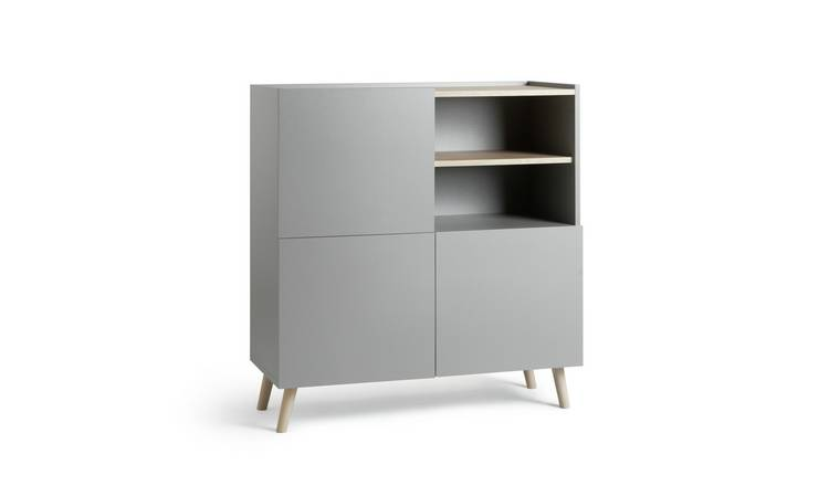 Argos Home Skandi 3 Door Sideboard - Grey Two Tone
