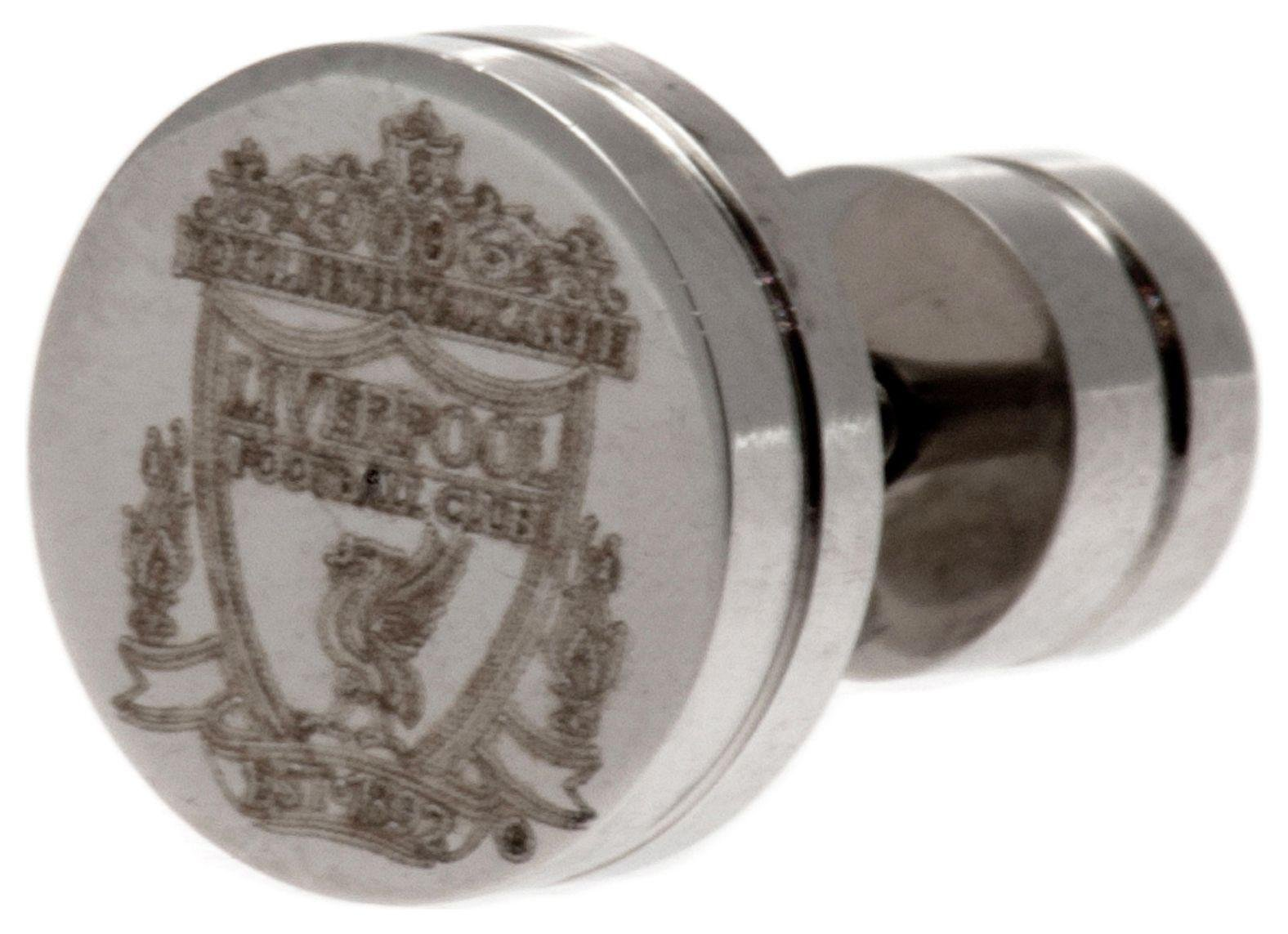 Image of Stainless Steel Liverpool Crest Stud Earring.