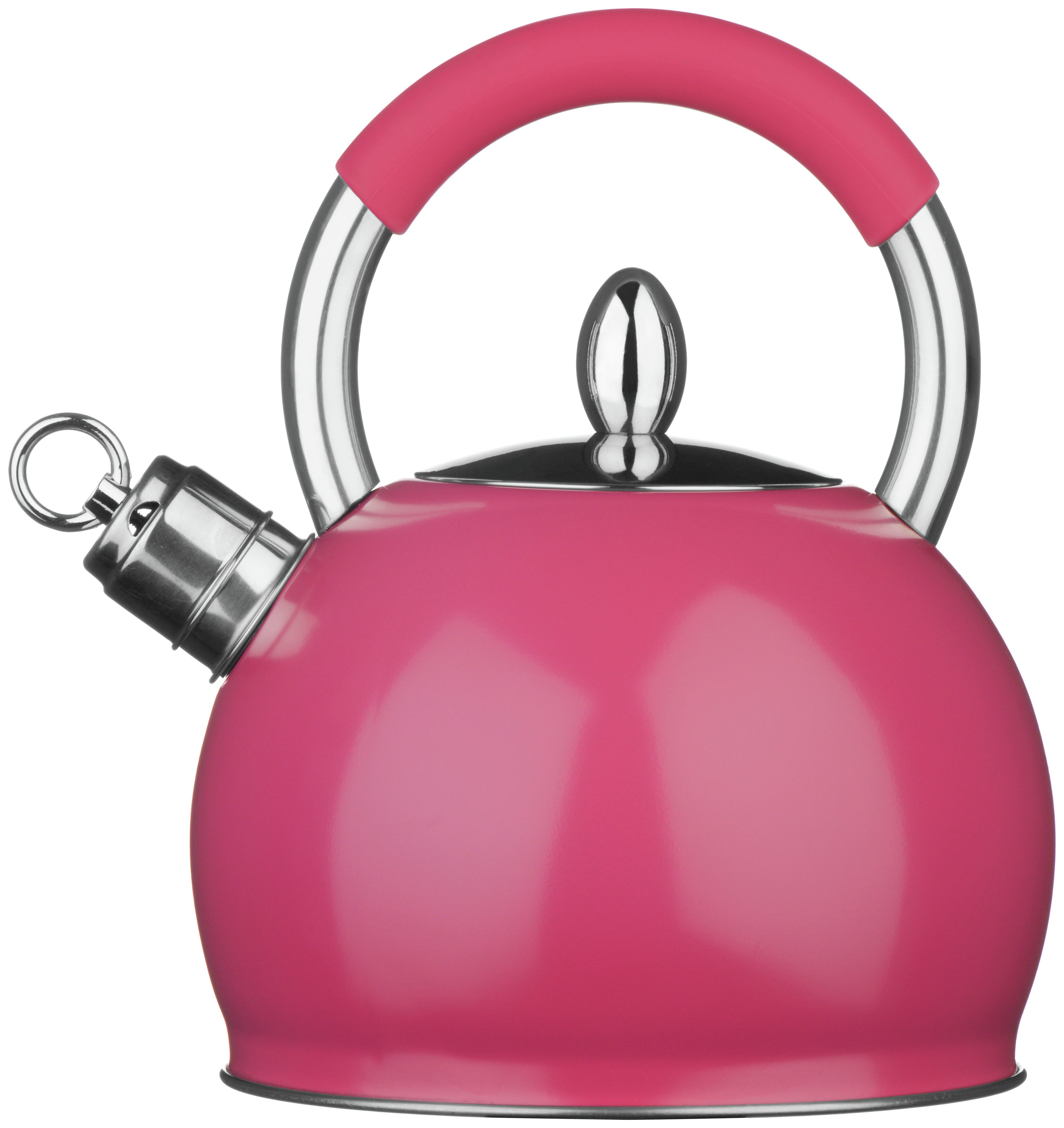 Premier Housewares Stove Top Whistling Kettle - Pink