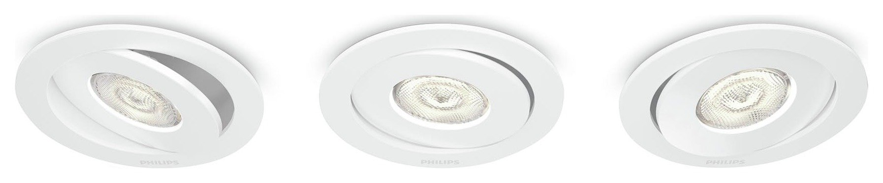 Philips - Asterope 45w White Recessed SELV Light - 3 Pack