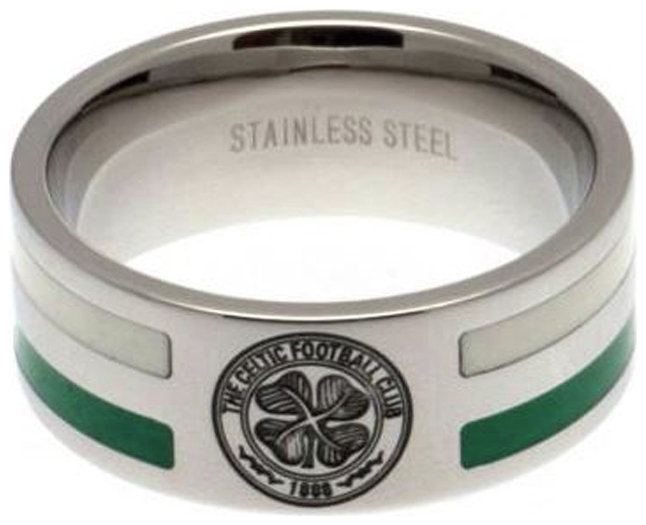 Image of Celtic - Stainless Steel - Striped Ring - Size R
