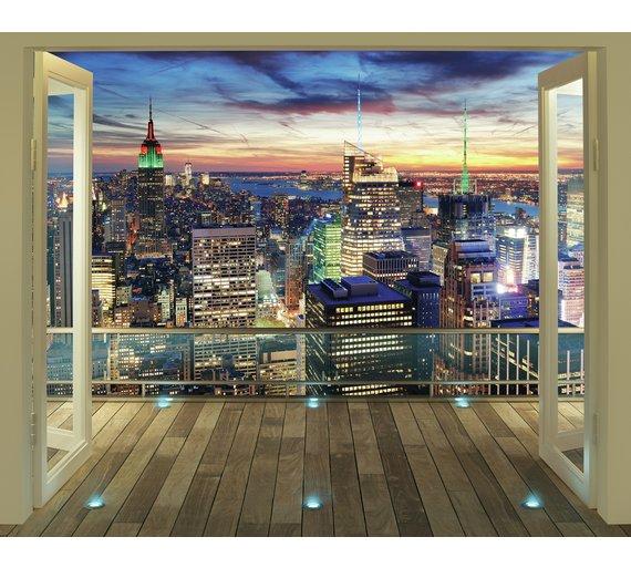New York Skyline Wallpaper: Buy Walltastic New York City Skyline Wallpaper Mural At