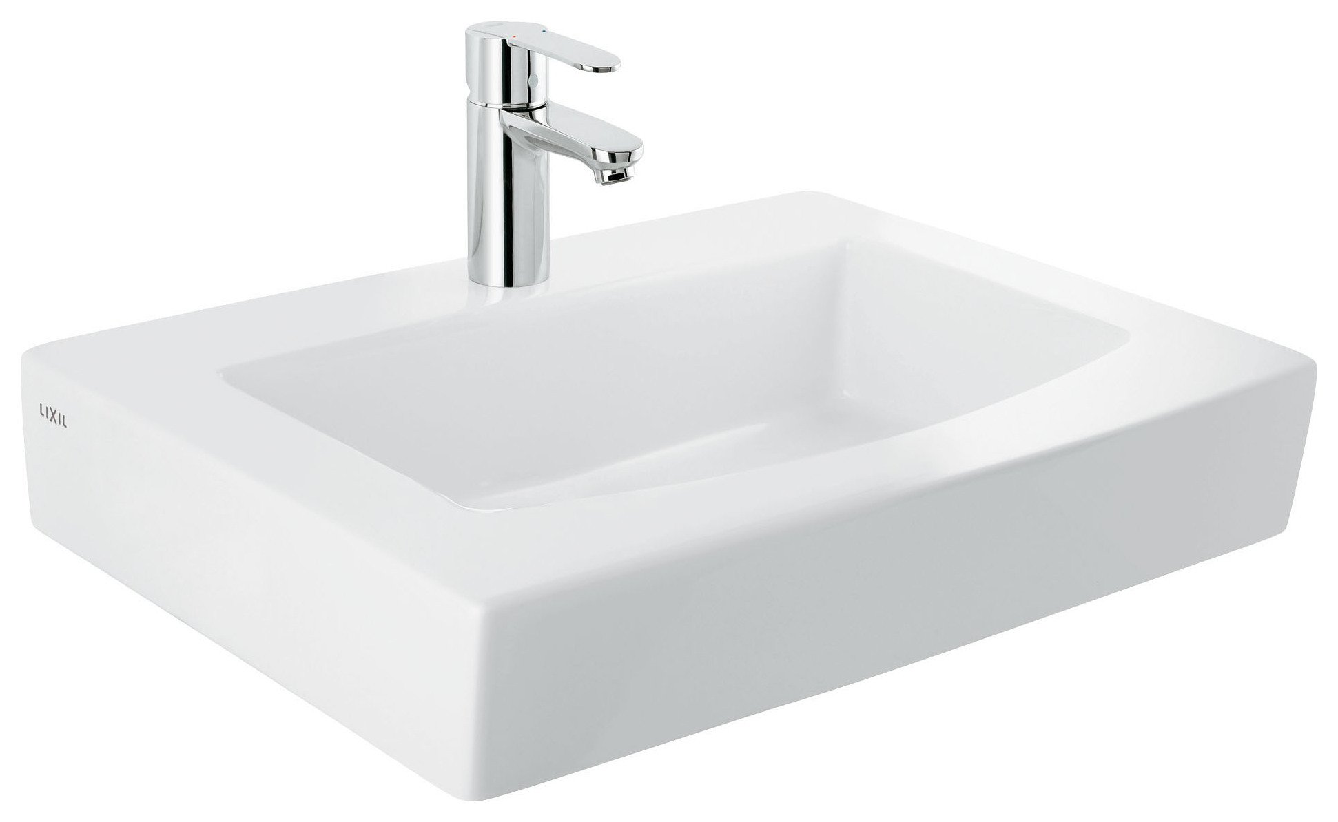 Image of Grohe Cosmopolitian 60cm Square Basin Mixer Tap.