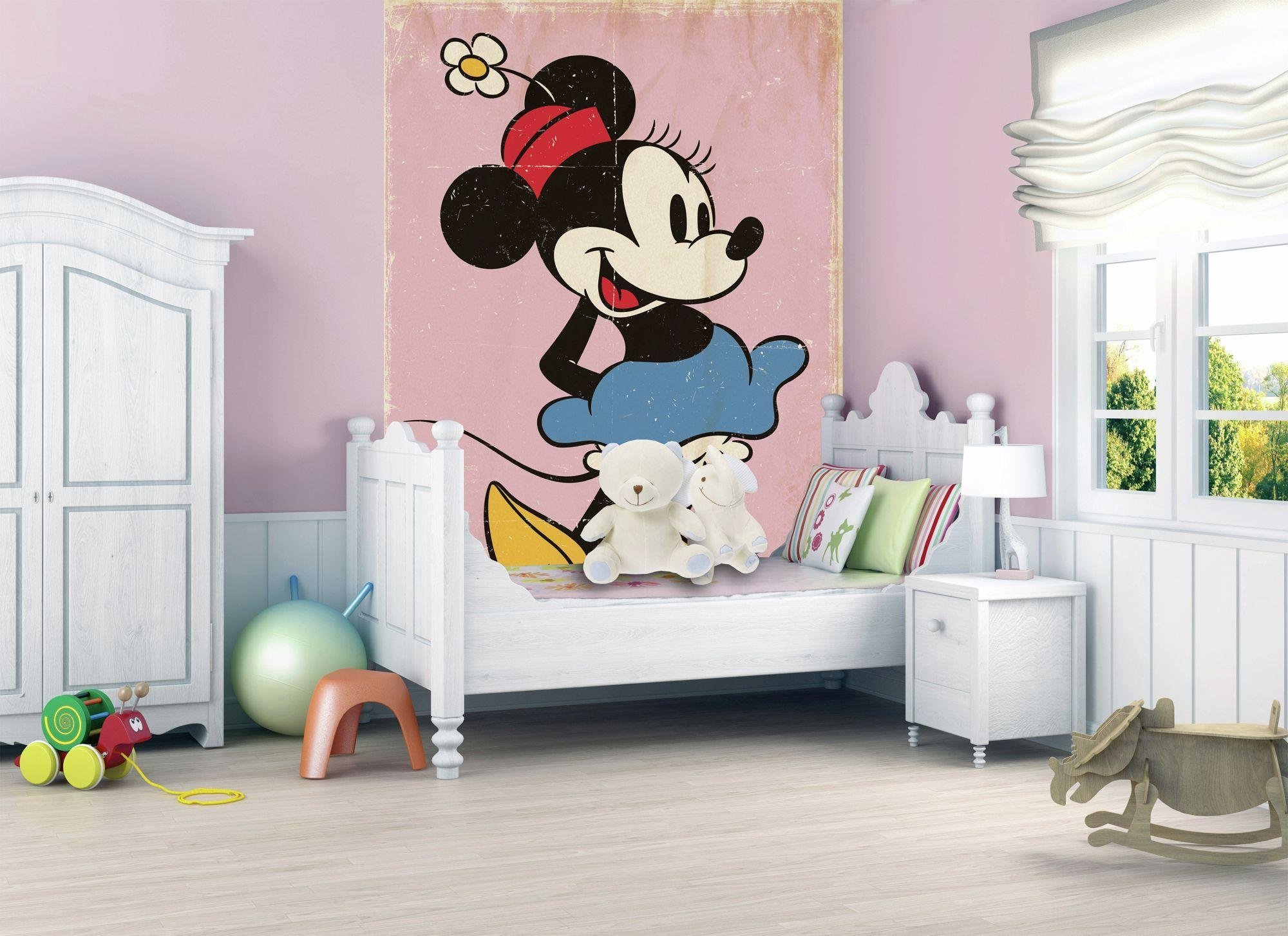 1Wall - Minnie Mouse 2 Piece - Wall Mural