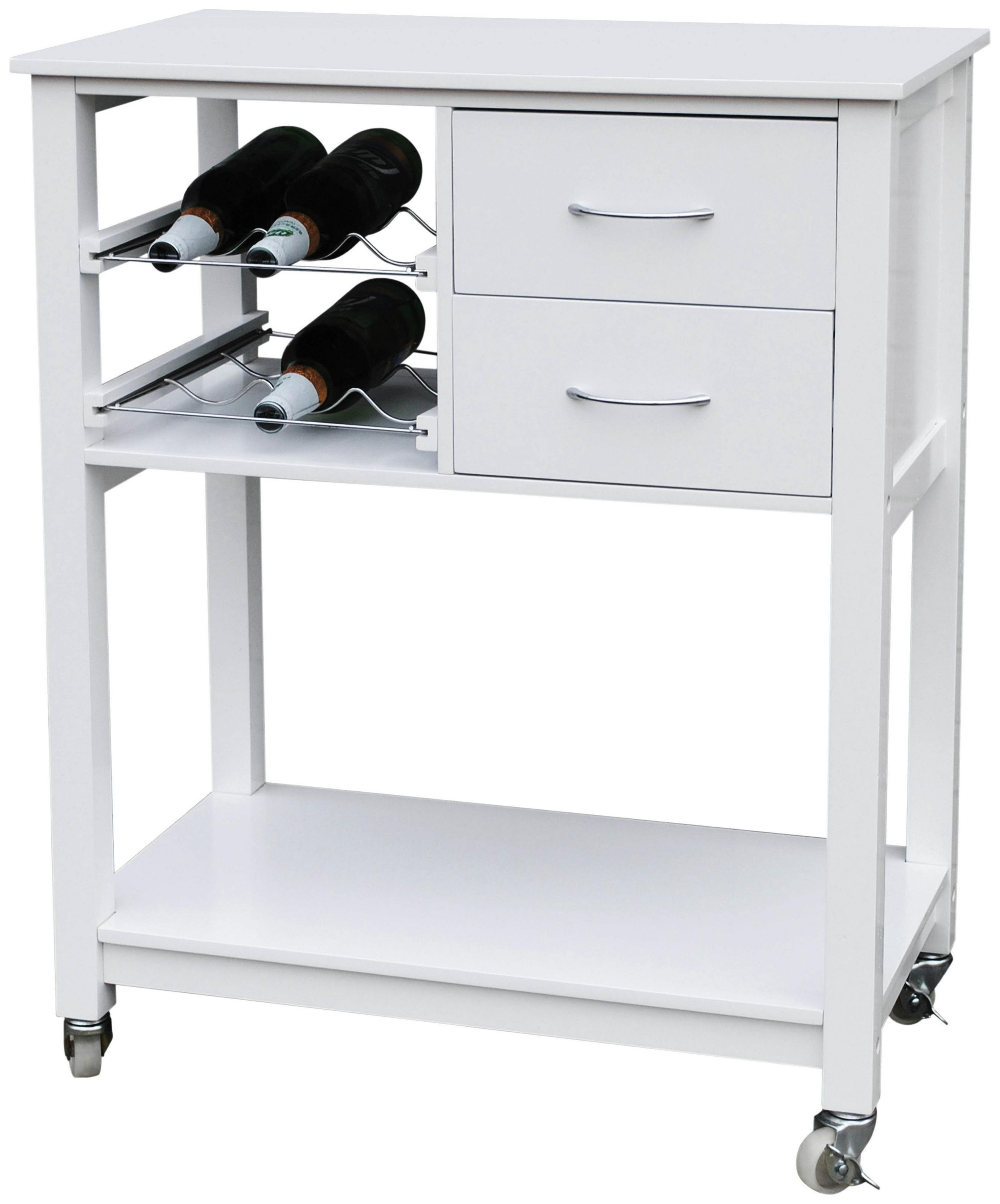 White Kitchen Trolley buy mdf pinewood top kitchen trolley - white at argos.co.uk - your