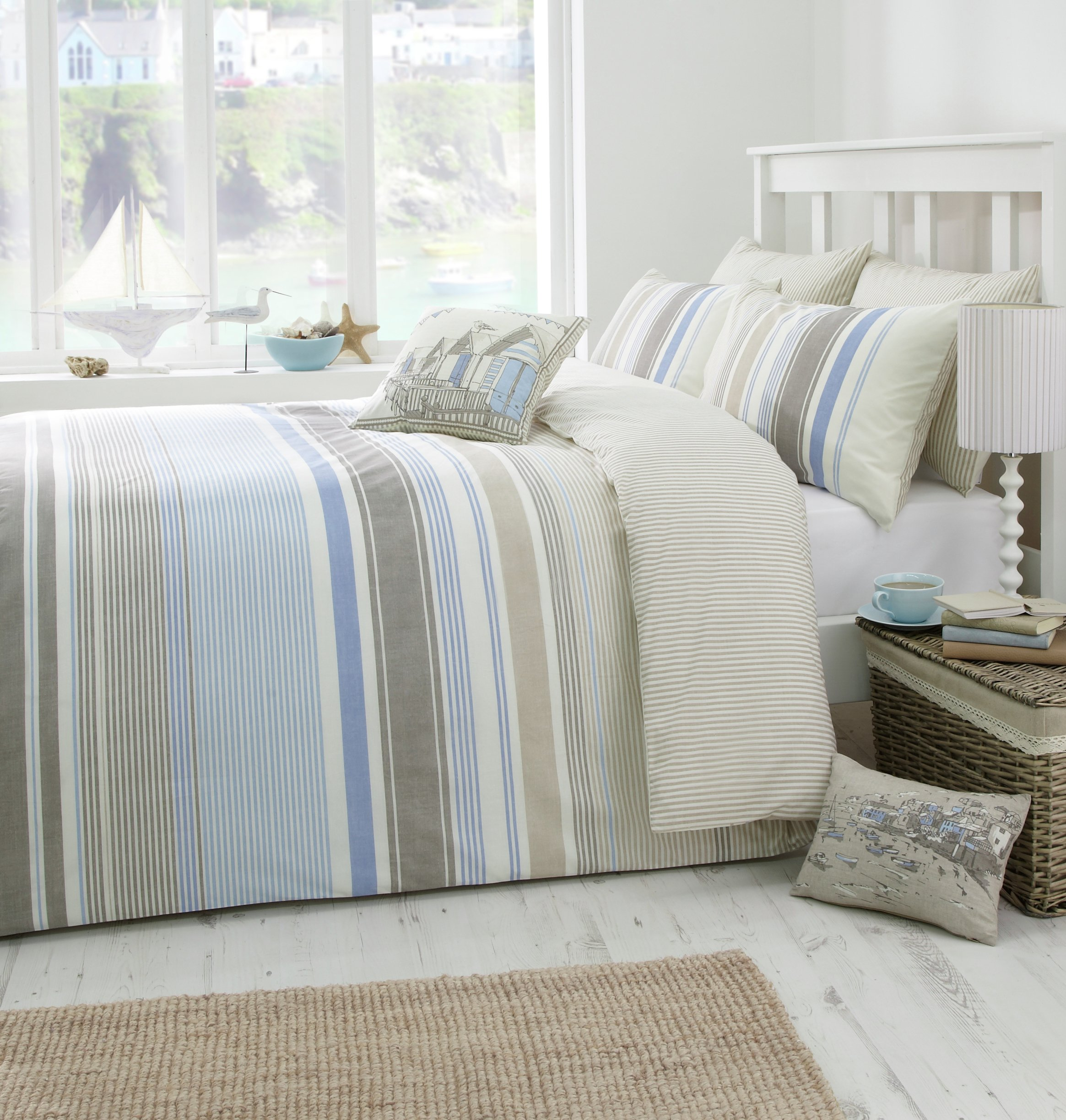 Dreams N Drapes - Falmouth Blue - Duvet Cover Set - Kingsize