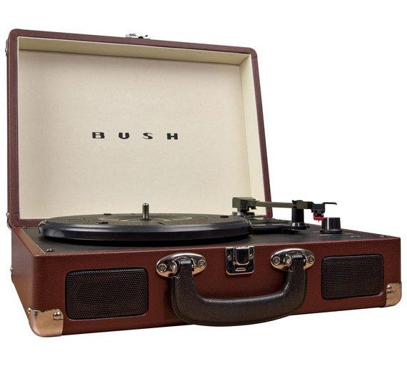 Buy Bush Classic Retro Turntable Brown At