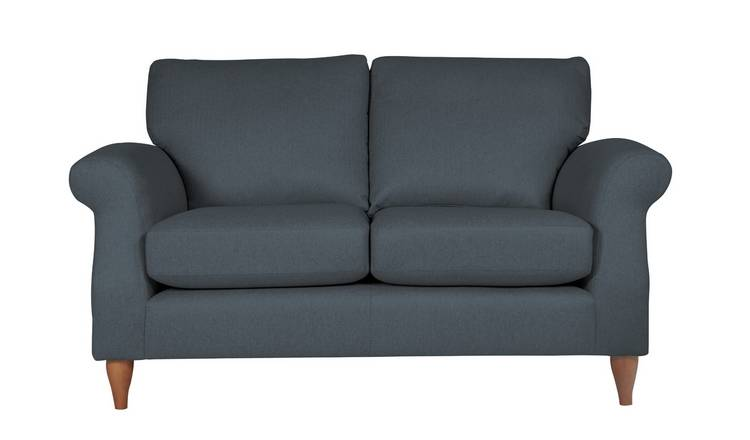 Argos Home Bude 2 Seater Fabric Sofa - Blue