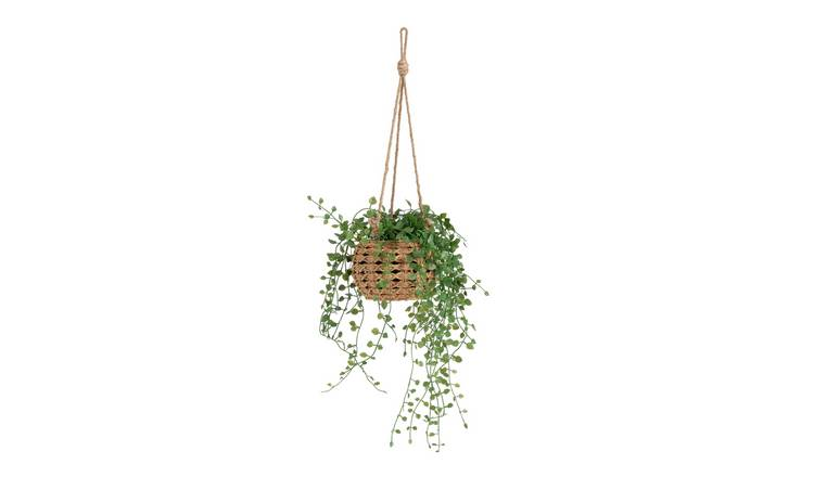 Argos Home Hanging Basket with Artificial Trailing Plant