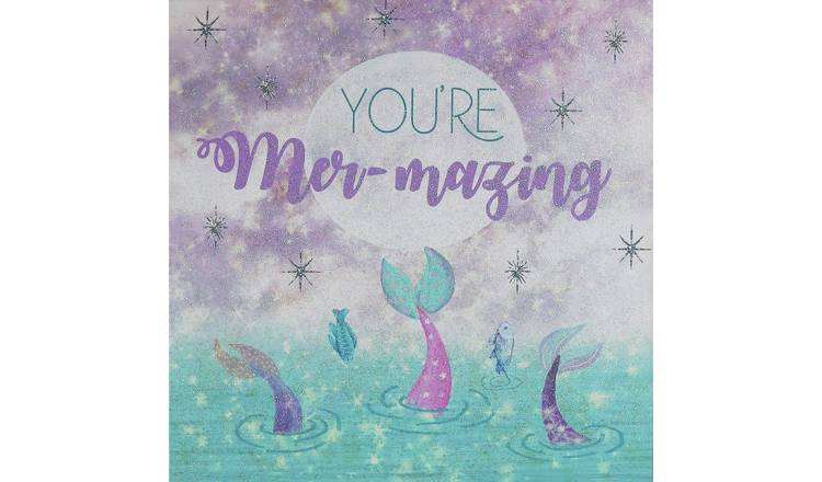 Arthouse Mermaid Glitter Canvas