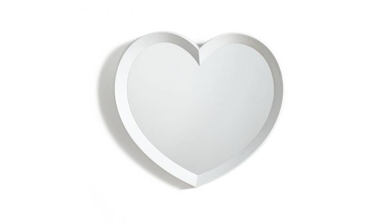 Argos Home Heart Shaped Wall Mirror - White
