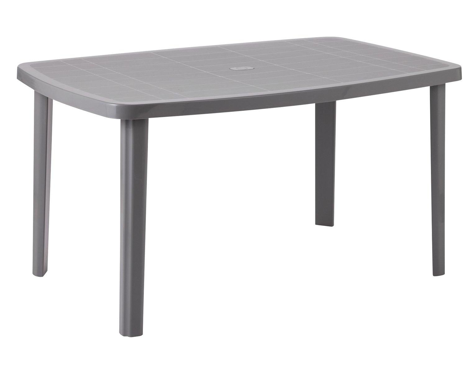 Argos Home Rectangular 6 Seater Garden Table - Light Grey