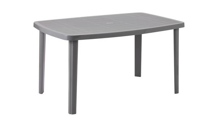 Argos Home Rectangular 6 Seater Garden Table - Light Grey