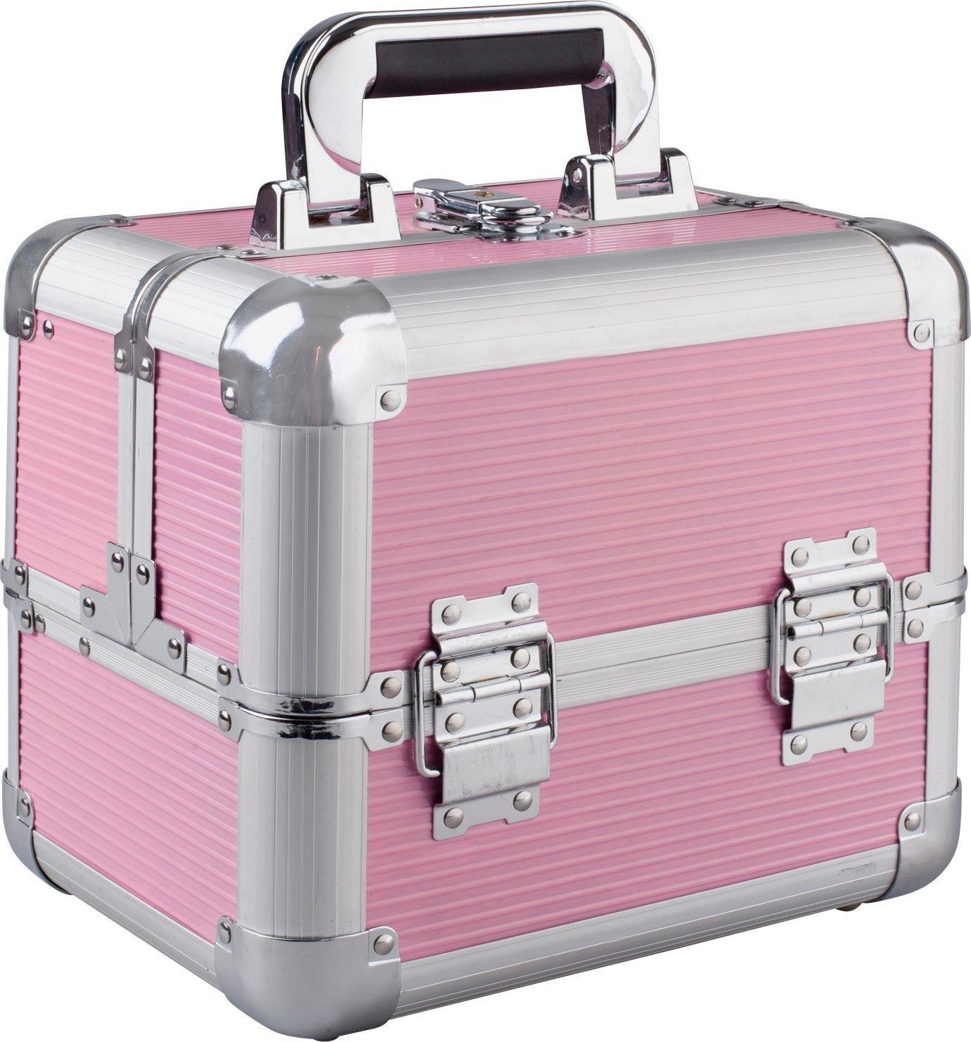 Buy Medium Pink Aluminium Cosmetic Case at Argos.co.uk - Your ...