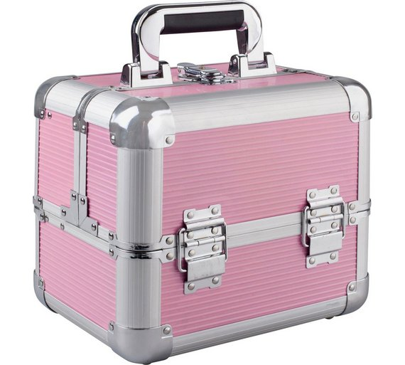 Buy Medium Pink Aluminium Cosmetic Case at Argos.co.uk - Your ...