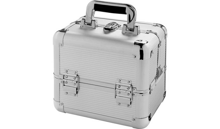 Medium Silver Aluminium Vanity Case