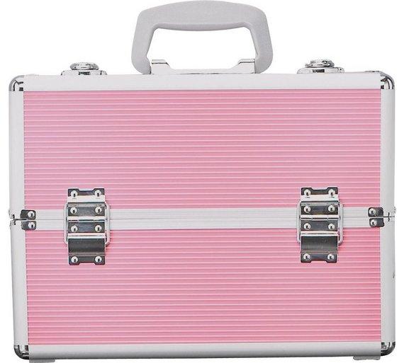 Buy Large Pink Aluminium Vanity Case At Argoscouk
