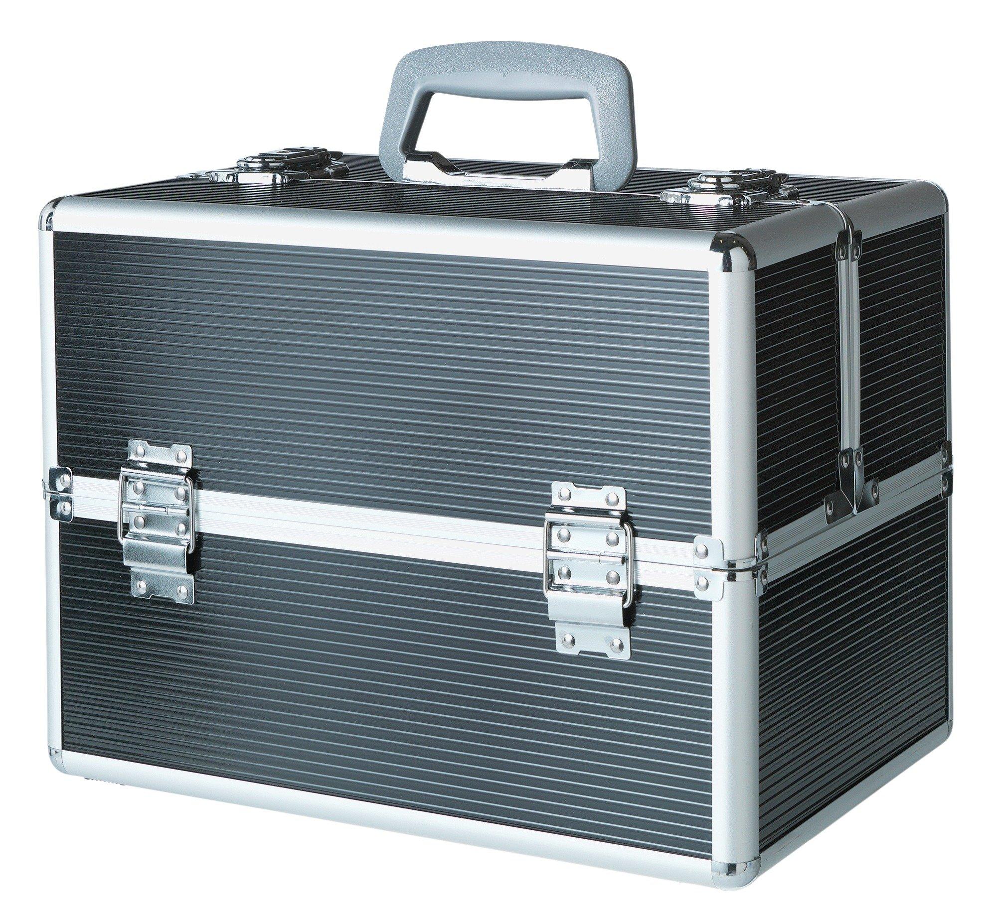 Large Black Aluminium Vanity Case