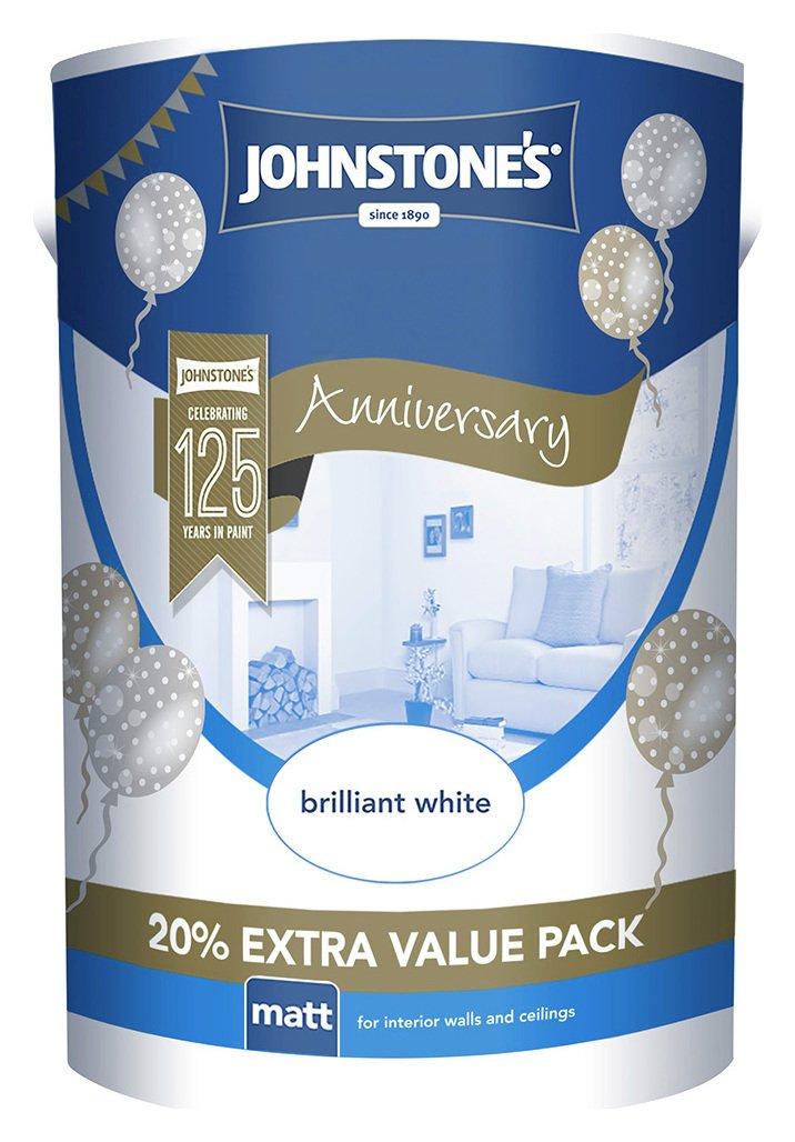 Johnstone's Brilliant White Matt Emulsion 6L.