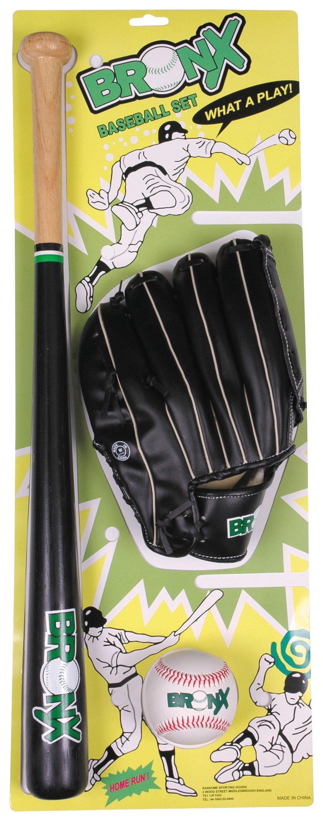 Image of Bronx - Wood Bat Ball and Glove Baseball Set