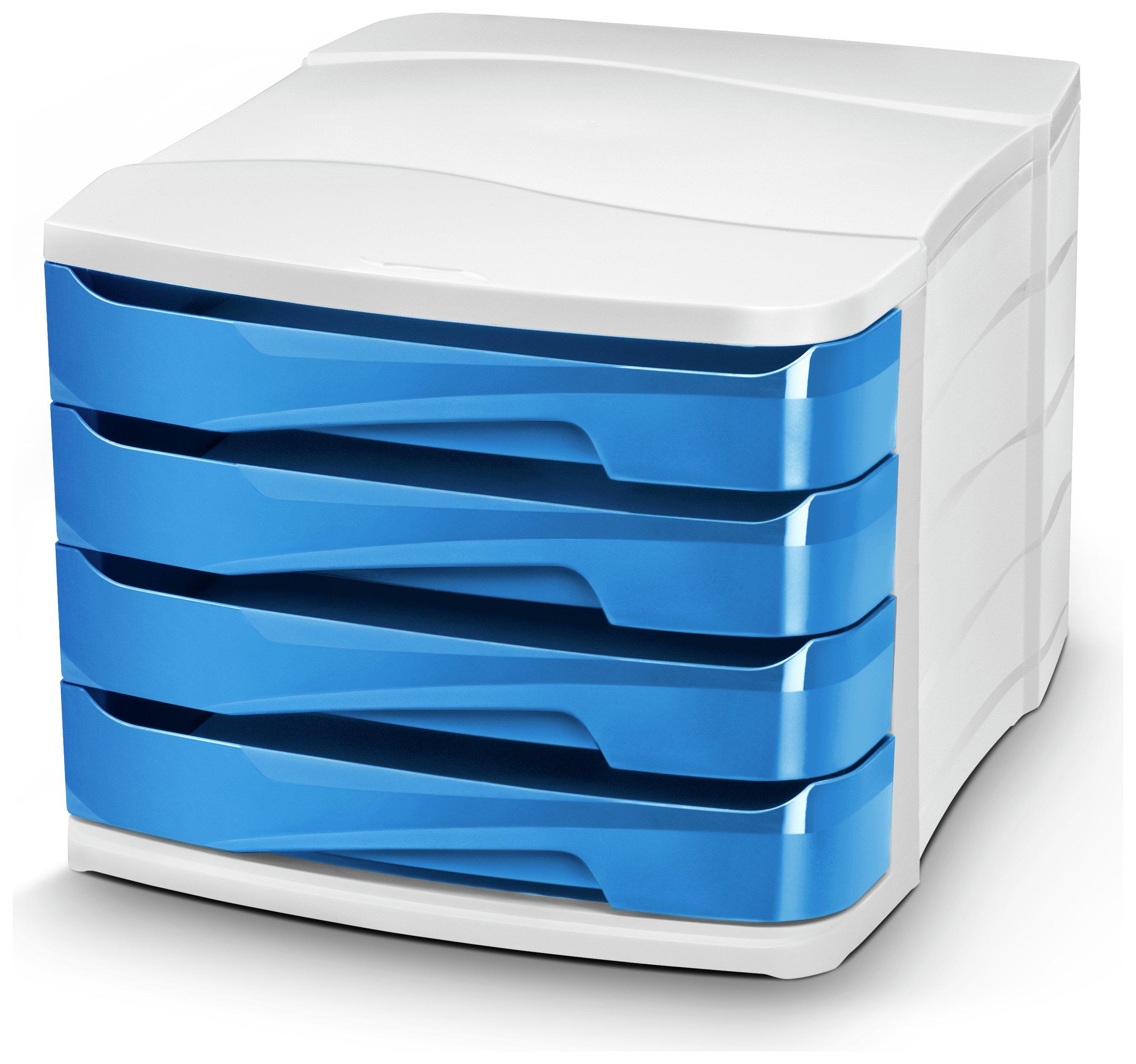 Image of CEP Ocean Blue Desktop Storage - Set of 4