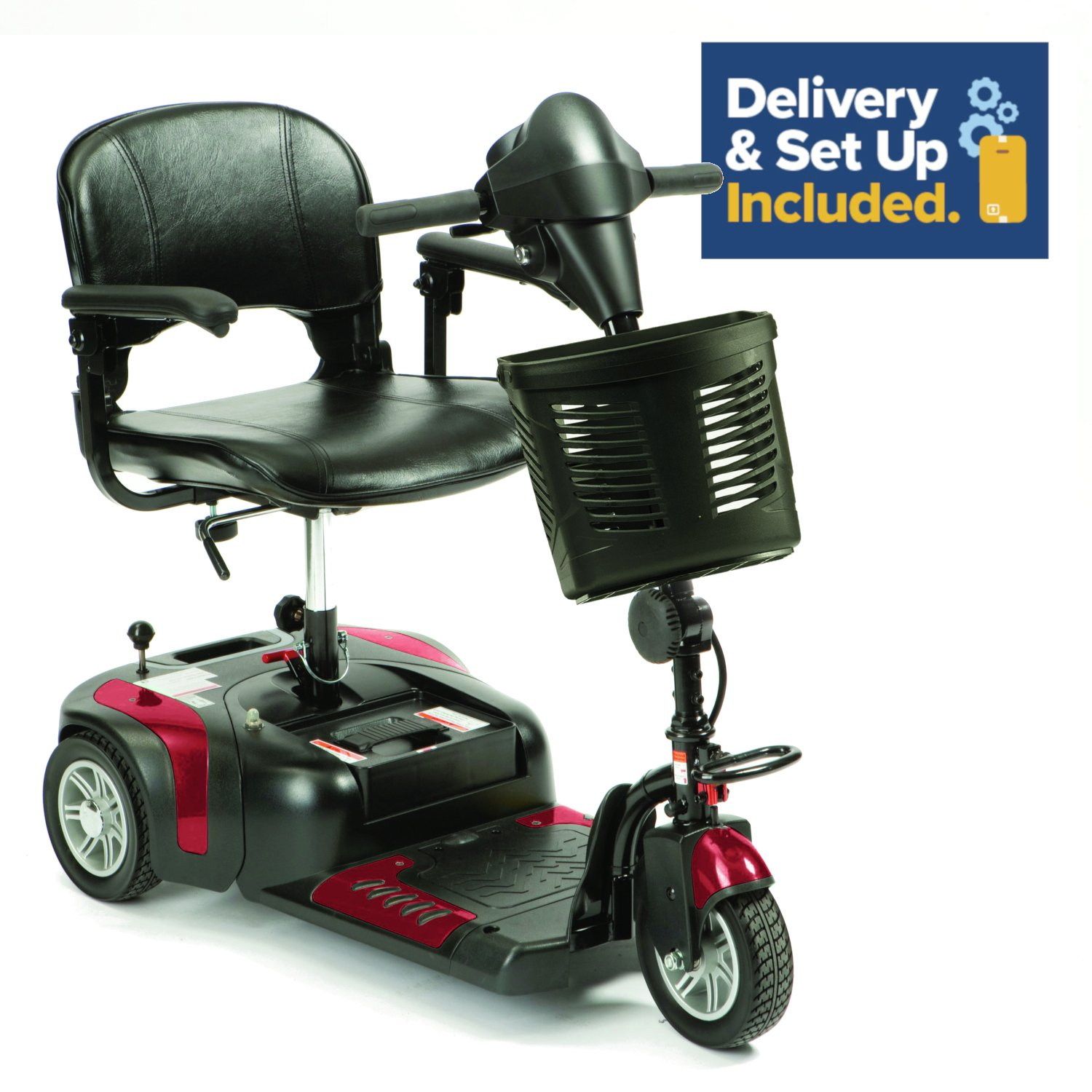 Prism 3 Wheel Mobility Scooter Class 2 - Red