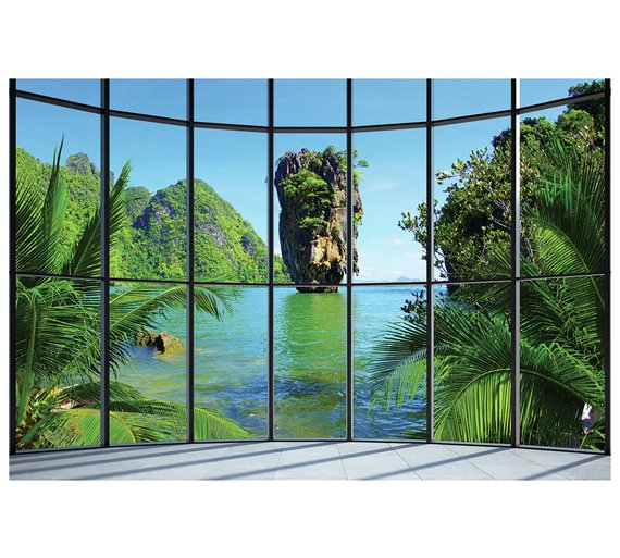 Buy 1wall thailand window wall mural at your for 1wall forest wallpaper mural
