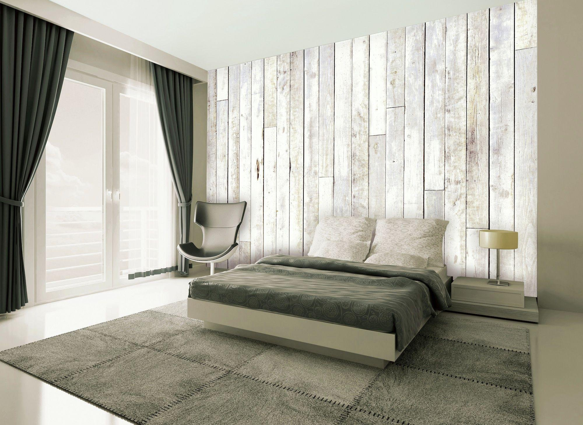 Image of 1Wall - Distressed Wood Panel - Wall Mural