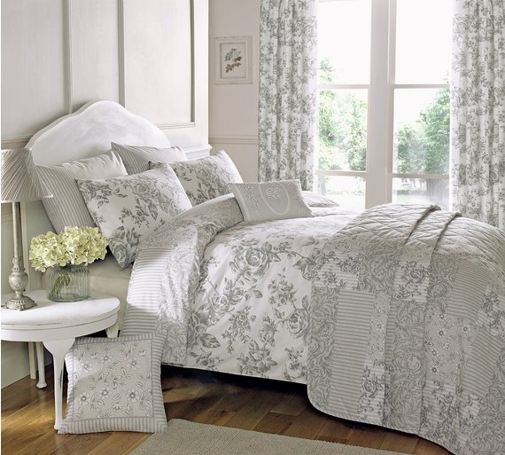 Buy Dreams N Drapes Malton Slate Bedding Set - Double at Argos.co ... : quilt covers argos - Adamdwight.com