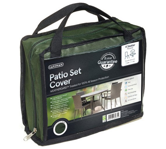 Click to zoomBuy Gardman 4 Seater Round Patio Set Cover   Green at Argos co uk  . Round Patio Set Cover. Home Design Ideas