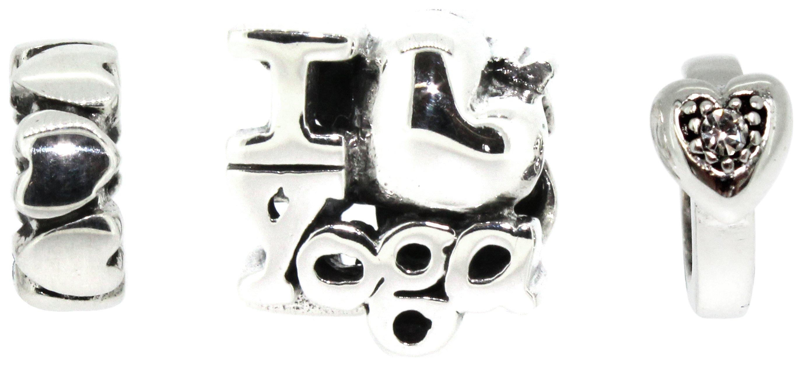 Image of I Love Yoga Charms - Set of 3.