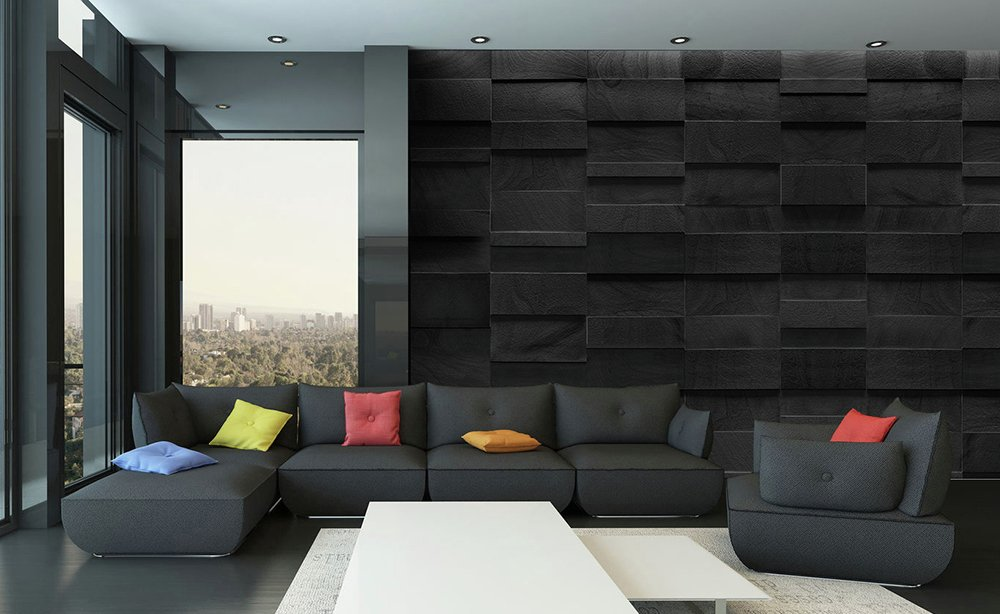 1Wall - Dark Rock - Wall Mural