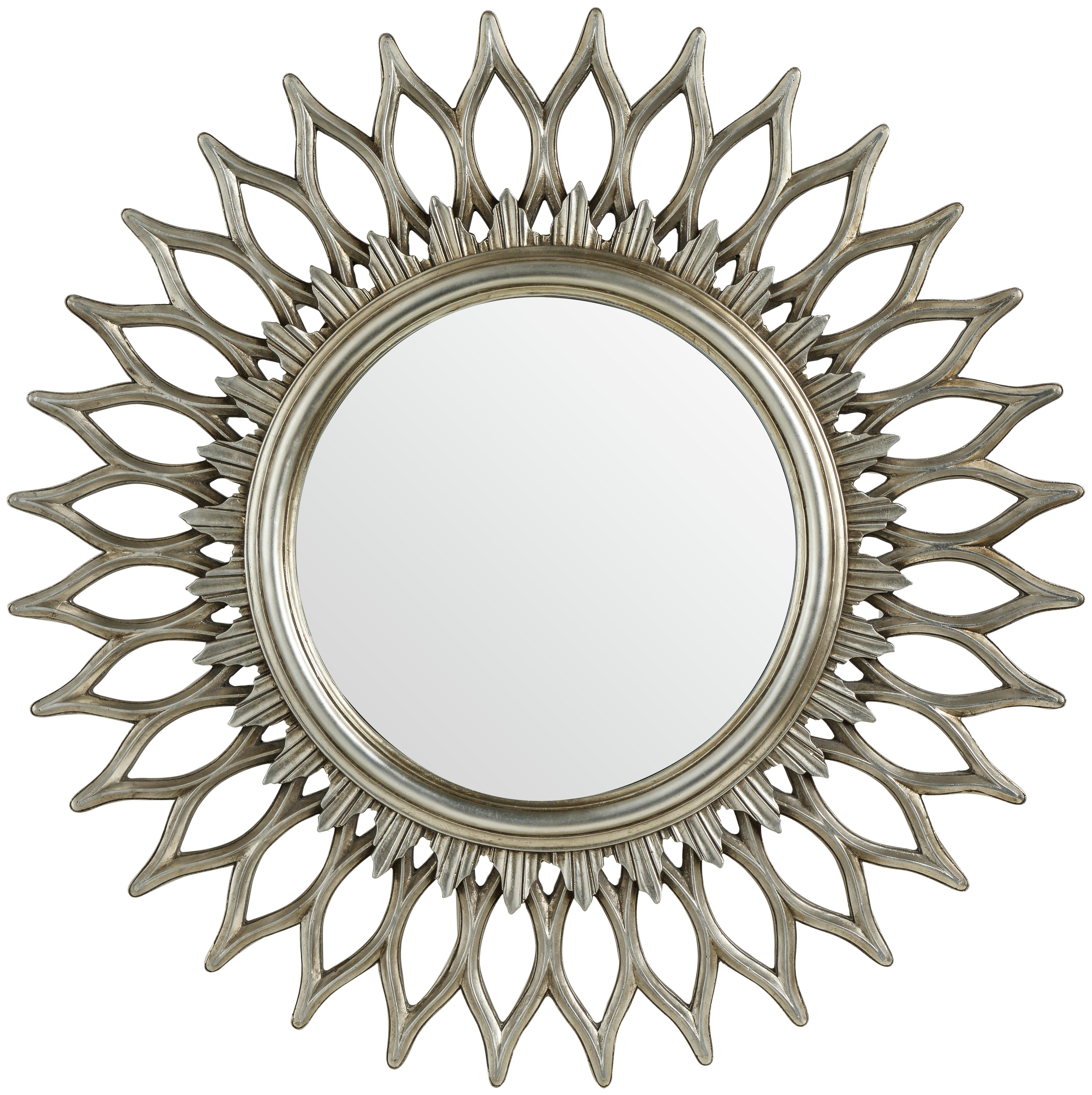 Premier Housewares Styro Round Wall Mirror - Champagne