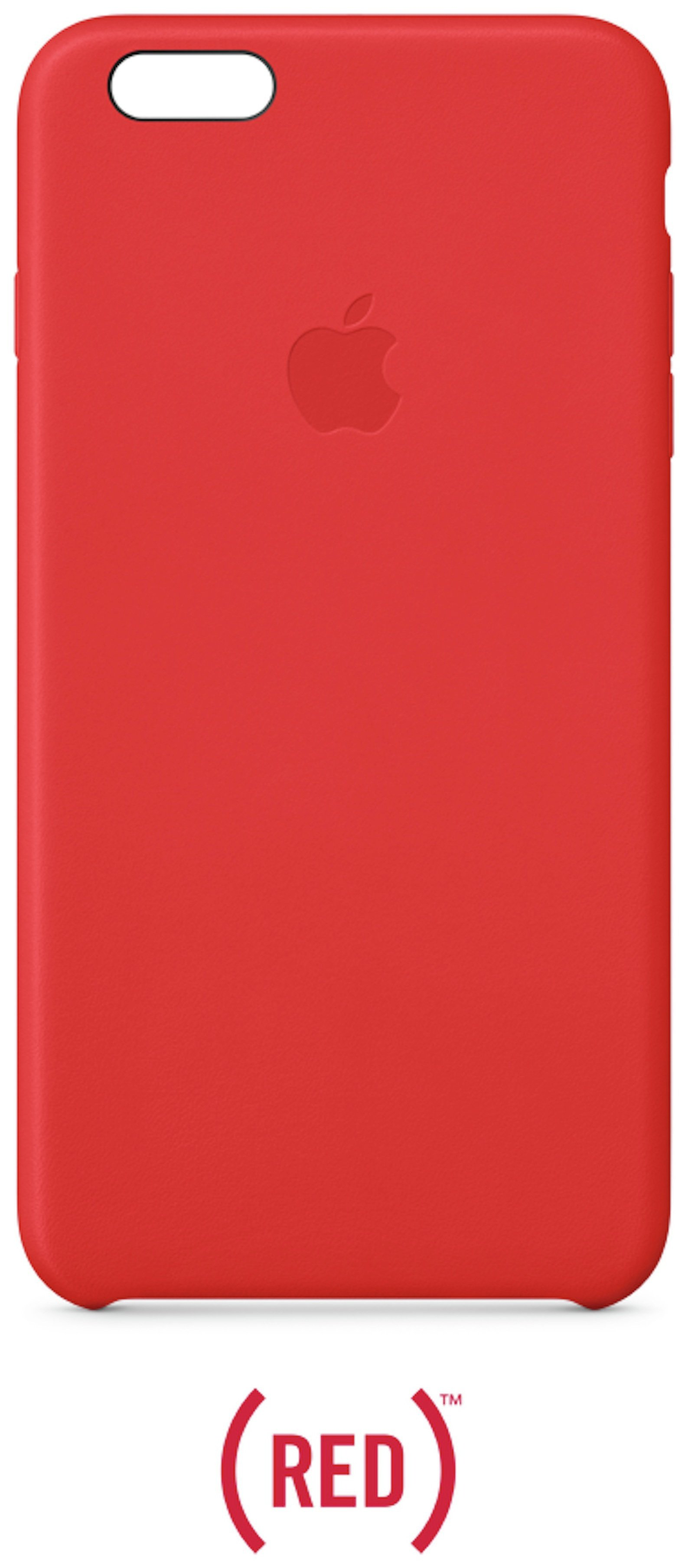 Apple iPhone 6 Plus Leather Case - Red.