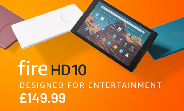 fire HD 10 Designed for entertainment £149.99.