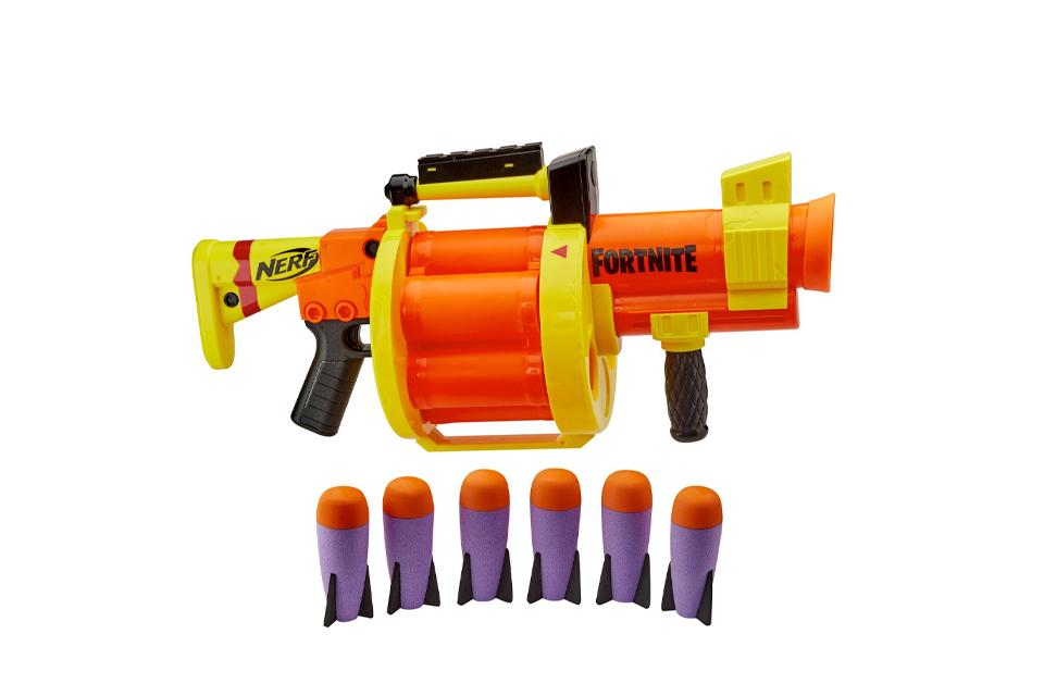 Nerf Fortnite GL Rocket-Firing Blaster.