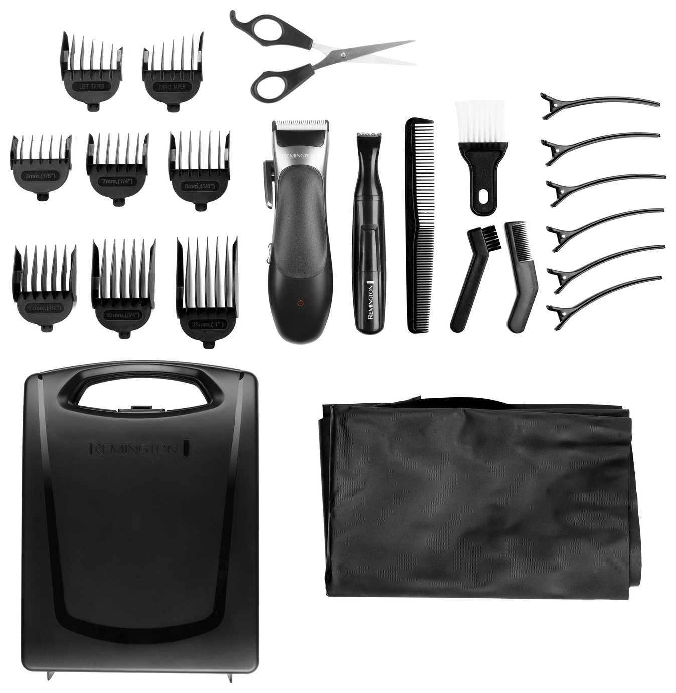 Remington 25 Piece Stylist Men's Hair Clippers Set HC366