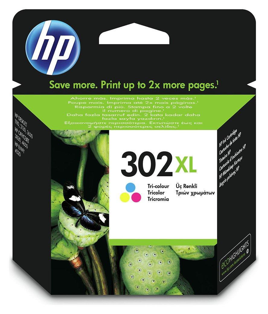 HP 302 XL High Yield Original Ink Cartridge - Colour
