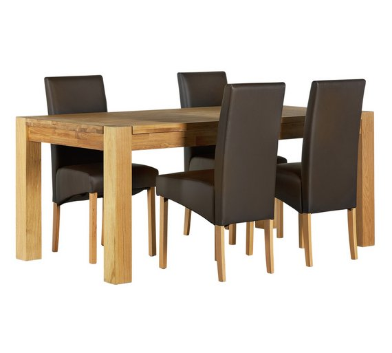 buy heart of house aspley wood table and 4 skirted chairs With home furniture aspley