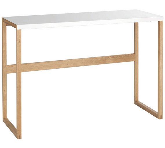 Buy habitat kilo console table white at your online shop for - Table basse kilo habitat ...
