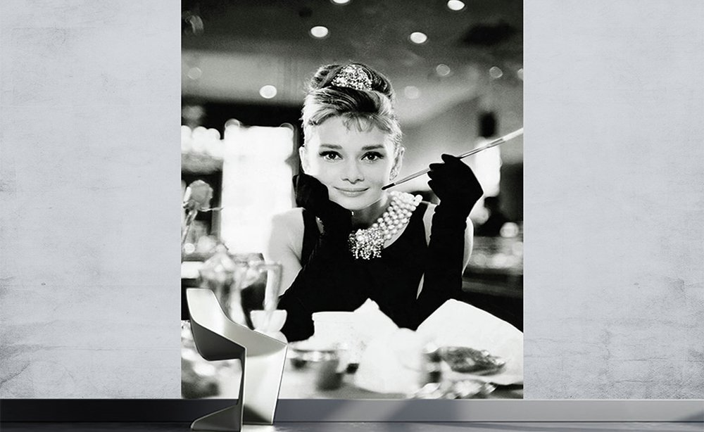 Image of 1Wall - Audrey Hepburn - Wall Mural