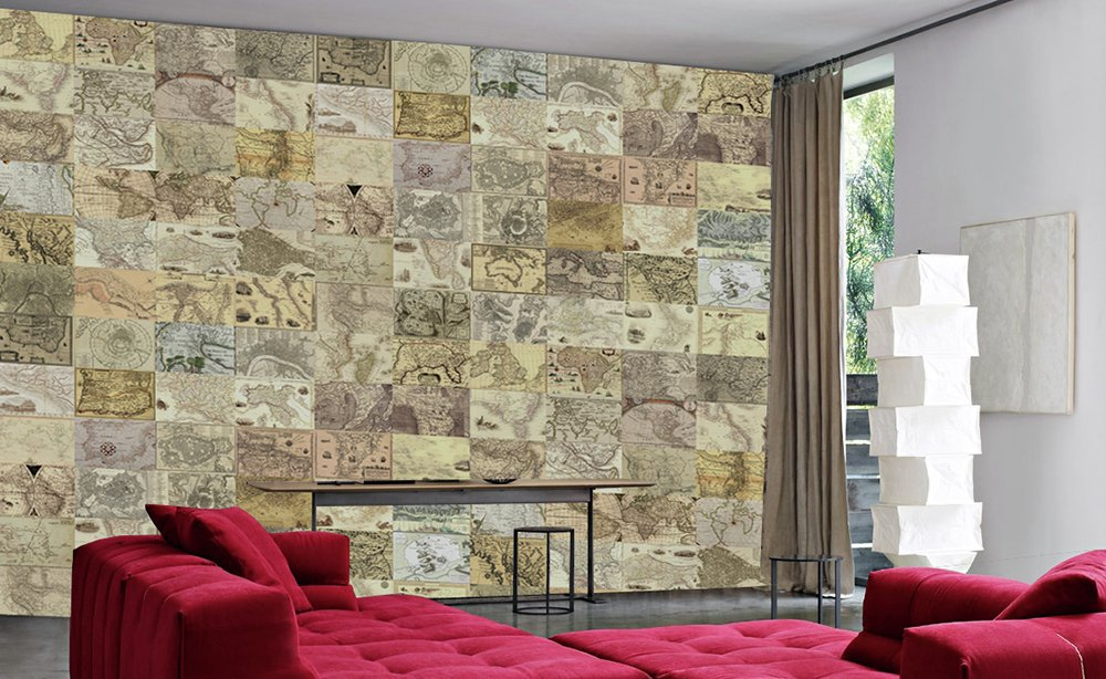 1Wall - World Maps Creative Collage