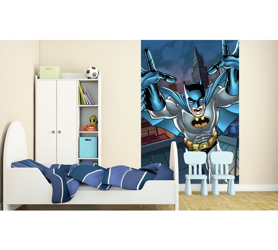 Buy 1wall batman wall mural at your online for Batman mural wallpaper uk