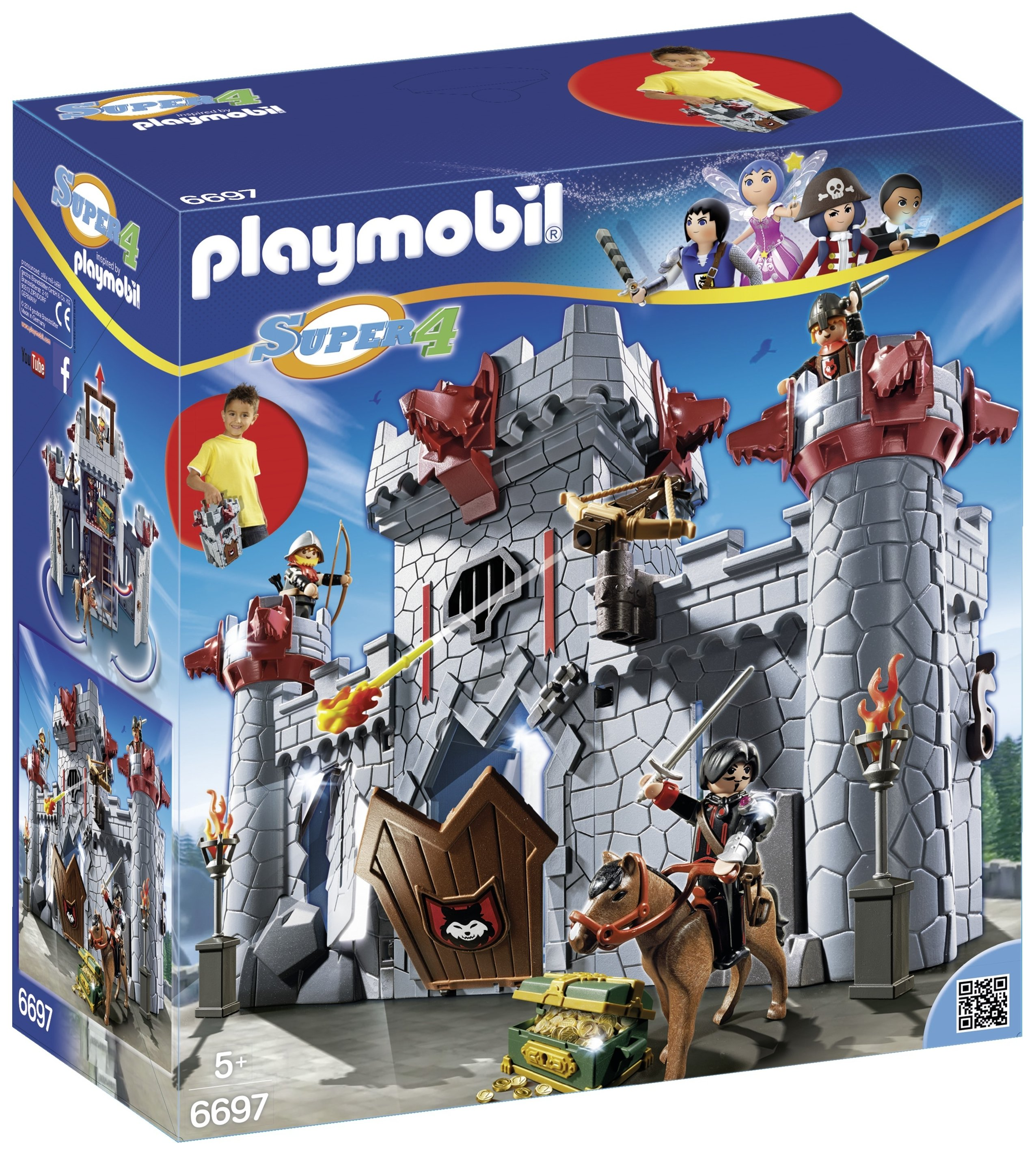 Playmobil   6697 Super 4 Take Along Black Baron's Castle Set.
